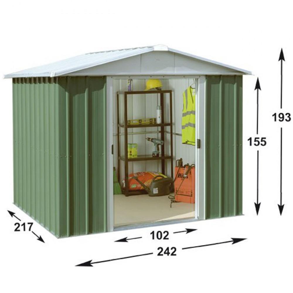 Abri De Jardin Métal Yard Master 5,25 M2 avec Abri De Jardin 4 M2