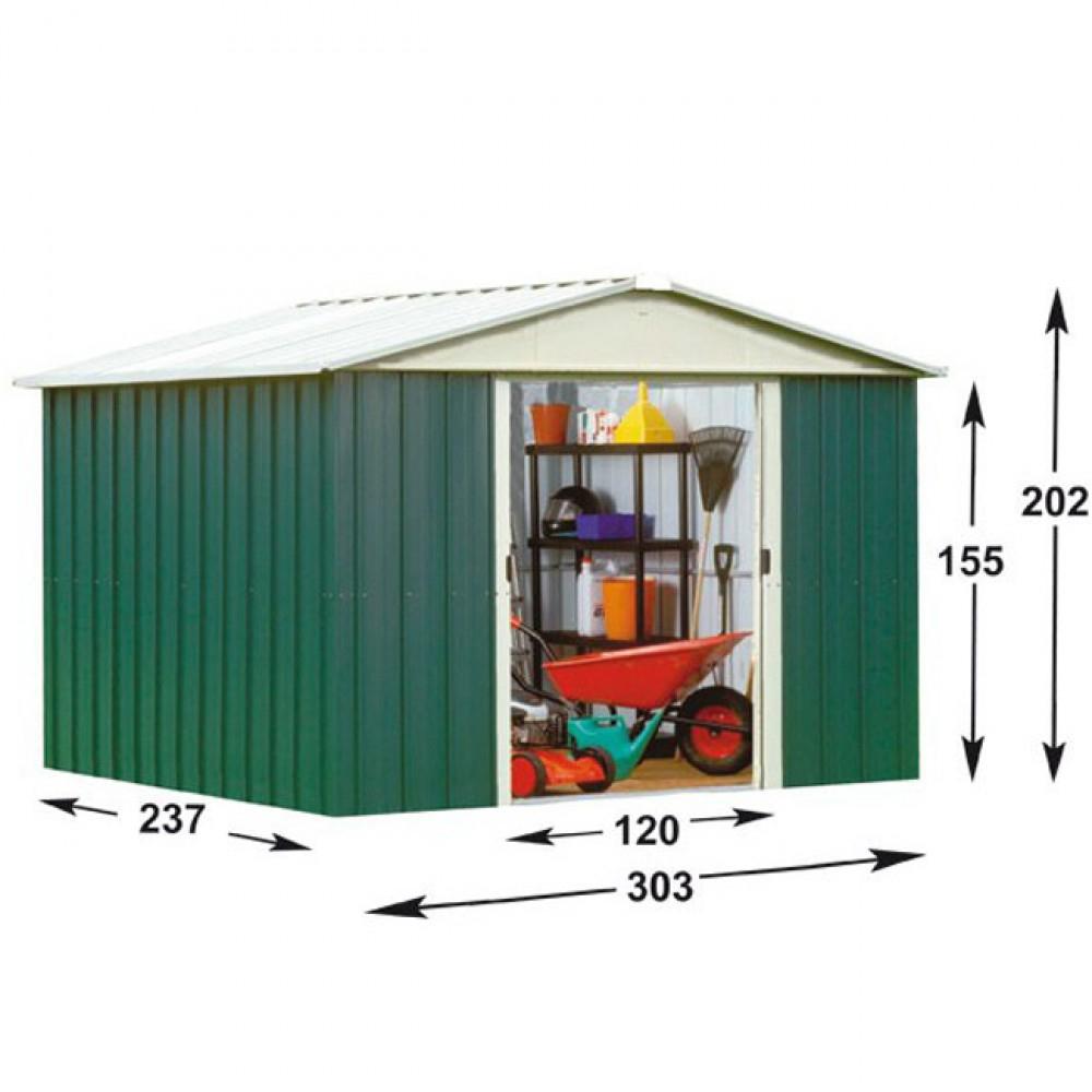 Abri De Jardin Métal Yard Master 7,18 M2 à Abri De Jardin 18M2