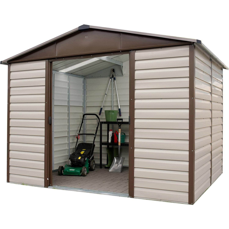 Abri De Jardin Métal Yardmaster 4,20 M2. + Kit D'ancrage Inclus intérieur Abri De Jardin Metal 20M2