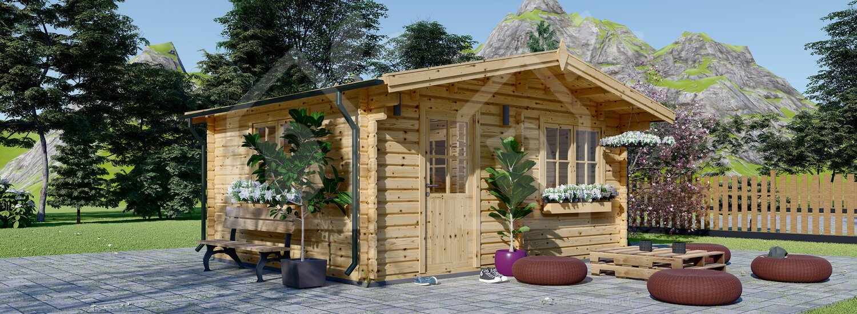 Abri De Jardin Nice (44 Mm), 6X6 M, 36 M² serapportantà Abri De Jardin Nice