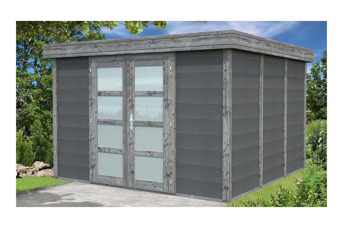 Abri De Jardin Noah Bois-Béton - 9.83M² Intérieur serapportantà Abri De Jardin Beton