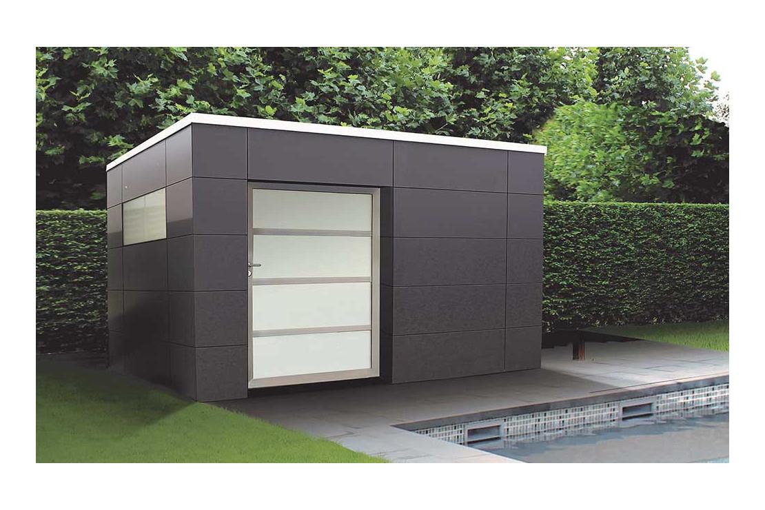 Abri De Jardin Panama Tokyo E, 2.9X2.1M, Panneaux Hpl pour Abri Jardin Composite