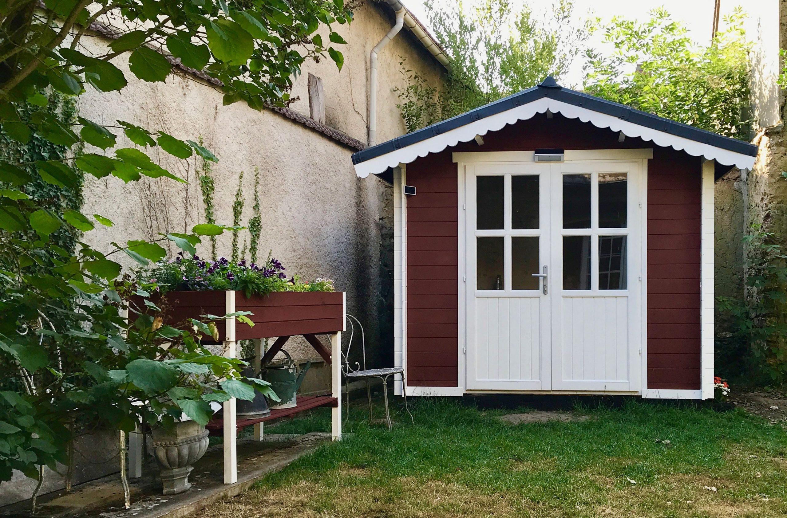 Abri De Jardin Peinture Suédoise Rouge | Abri De Jardin ... intérieur Peinture Abri De Jardin