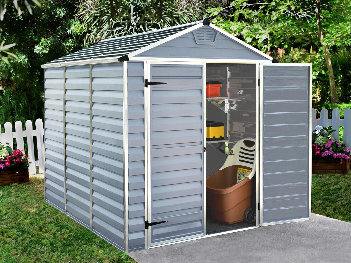 "Abri De Jardin Polycarbonate ""skylight"" - 4.25 M² - Gris ... dedans Abris De Jardin En Résine"