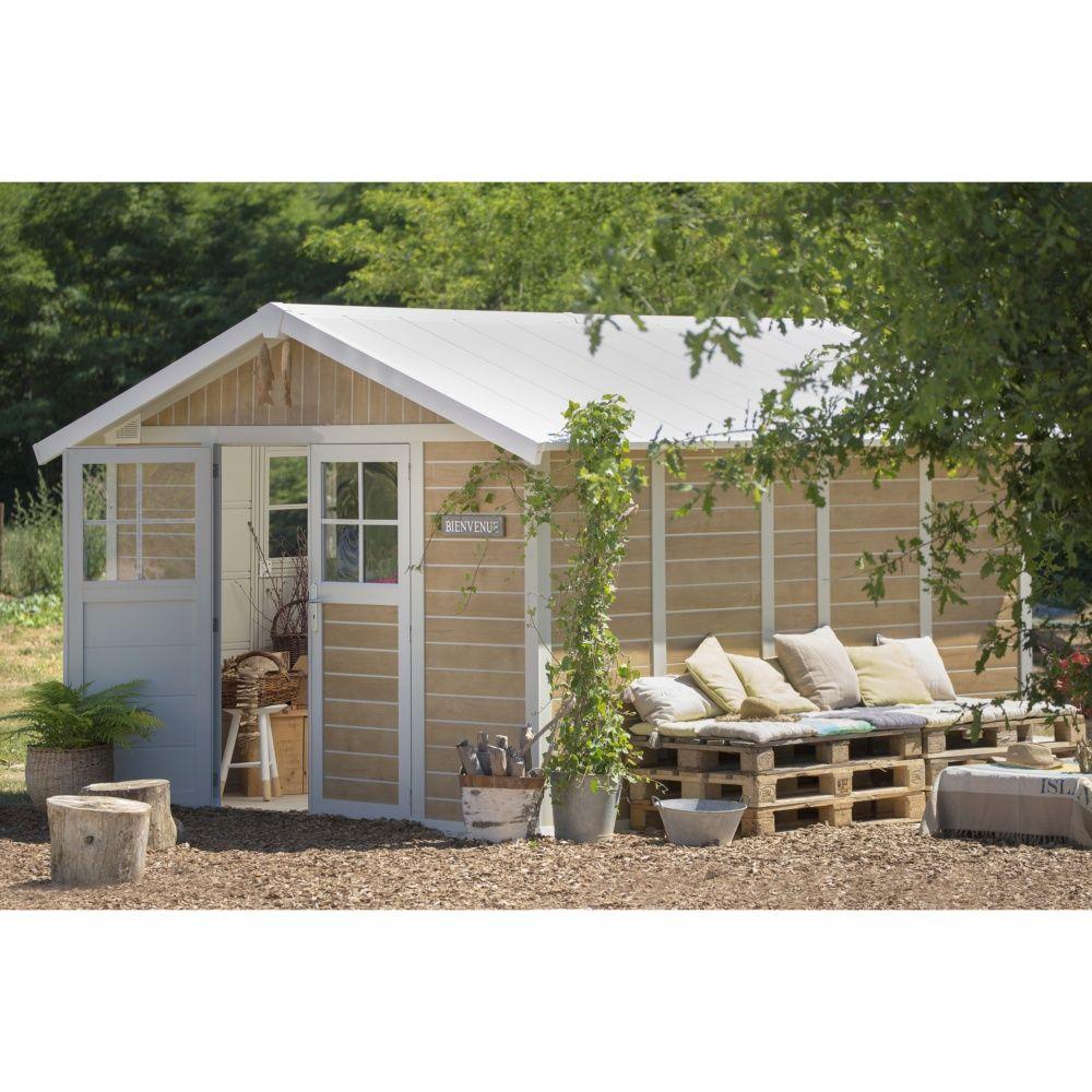 Abri De Jardin Résine Grosfillex 11,2 M² Ep. 26 Mm Sherwood pour Abri De Jardin En Kit