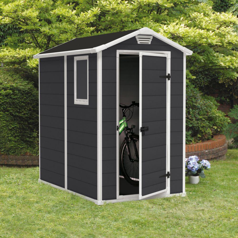 Abri De Jardin Résine Keter Premium 46S 2,5 M² Ep. 16 Mm destiné Abri De Jardin Resine Keter