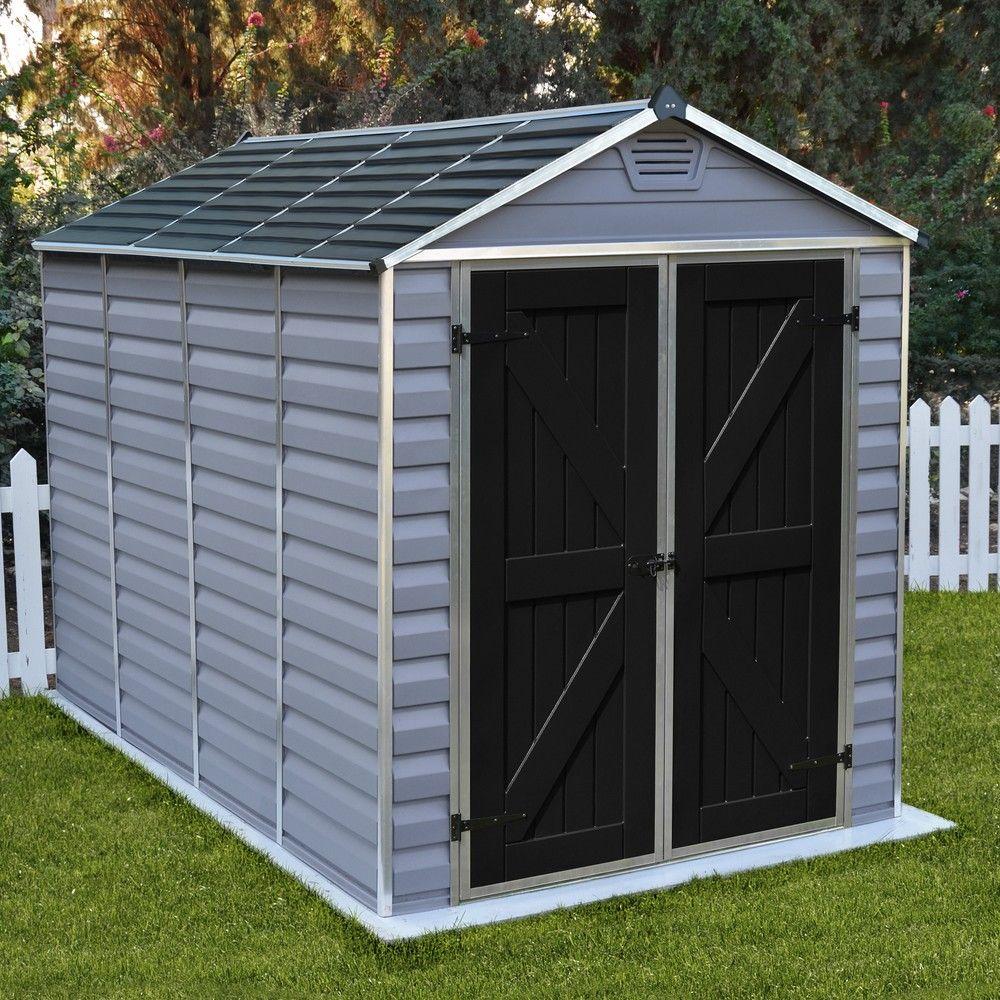Abri De Jardin Résine Palram Skylight 5,6 M² Pas Cher - Abri De Jardin Gamm  Vert concernant Abri De Jardin Metal Pas Cher