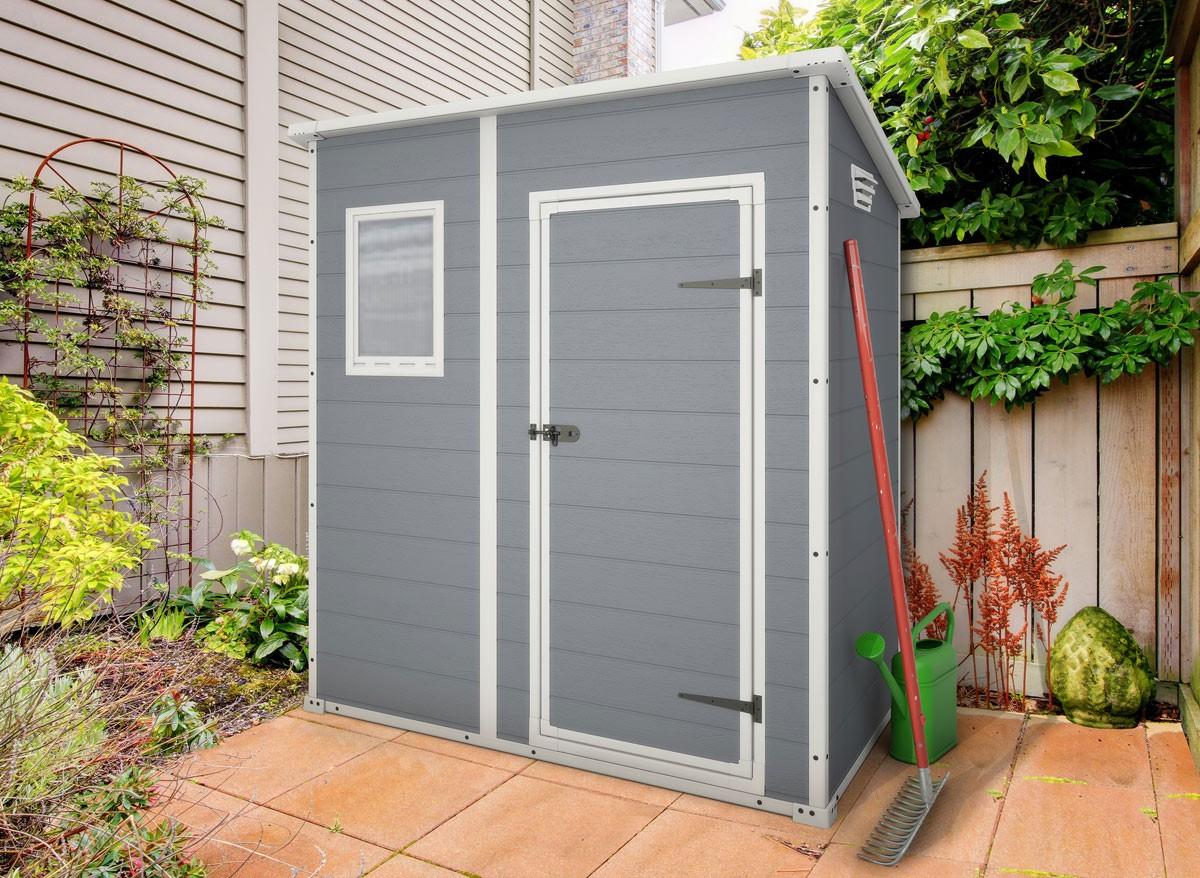Abri De Jardin Résine Premium 64 Gris - 2 M² pour Cabane De Jardin Resine