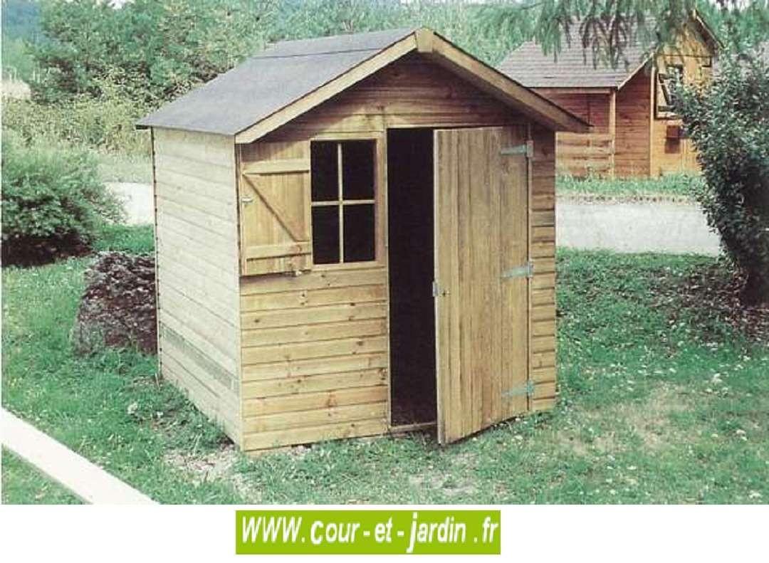 Abri De Jardin Sarlat 4M² - Abris Et Rangements- Cour Et Jardin concernant Abri De Jardin 4 M2