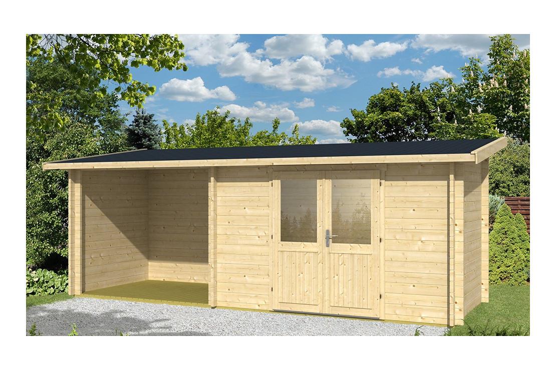 Abri De Jardin Tarbes 44Mm - 6,3M² Intérieur + 4,9M² avec Abri De Jardin Contre Mur