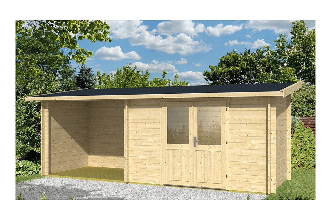 Abri De Jardin Tarbes 44Mm - 6,3M² Intérieur + 4,9M² serapportantà Abris De Jardin Adossable