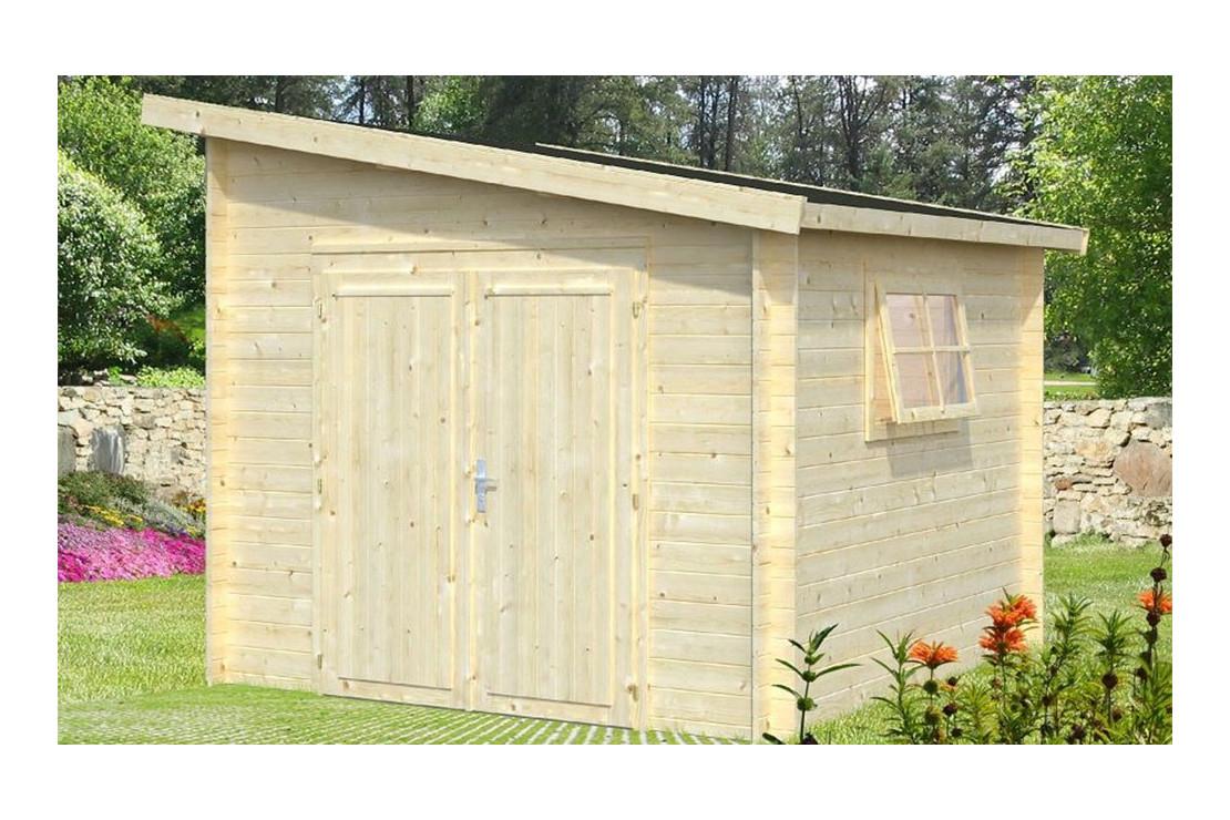 Abri De Jardin Ussel 28Mm - 7,2M² Intérieur encequiconcerne Abri De Jardin Monopente