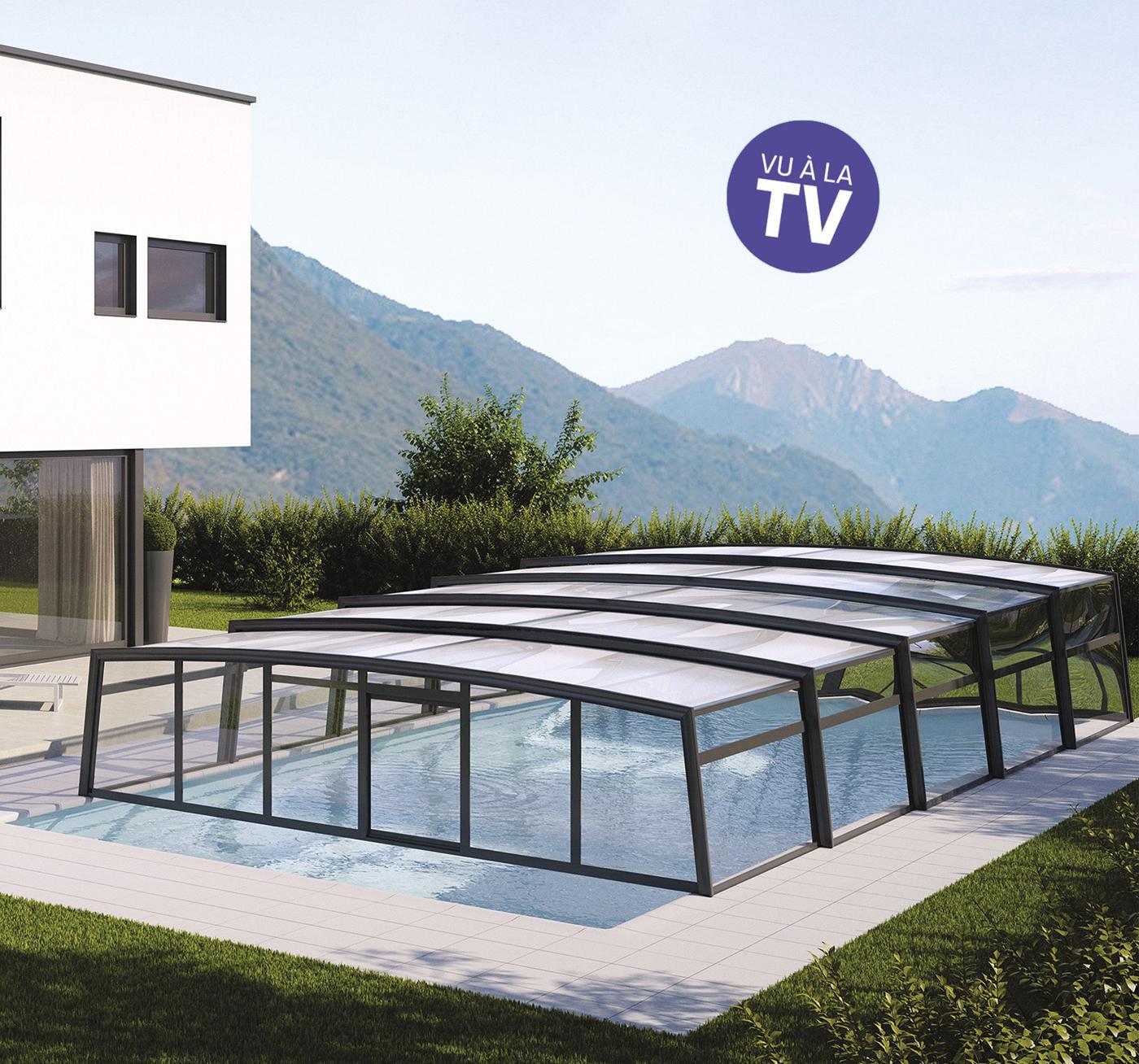 Abri De Piscine Azenco, Protection Avec Une Couverture De ... pour Aménagement Jardin Avec Spa