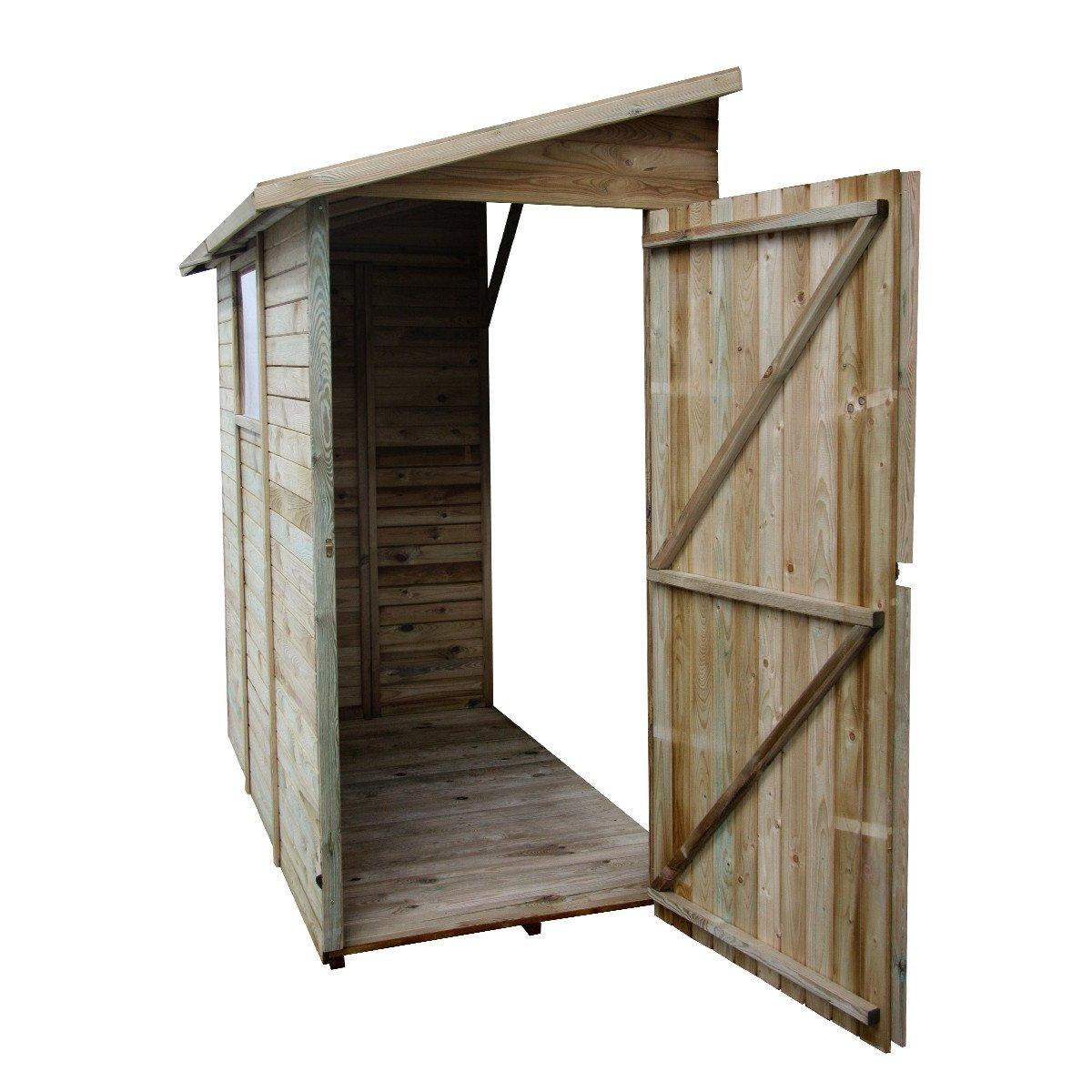 Abri De Rangement Adossé En Bois 2,63 M² Elisa - Achat/vente ... pour Abris De Jardin Adosse A Un Mur