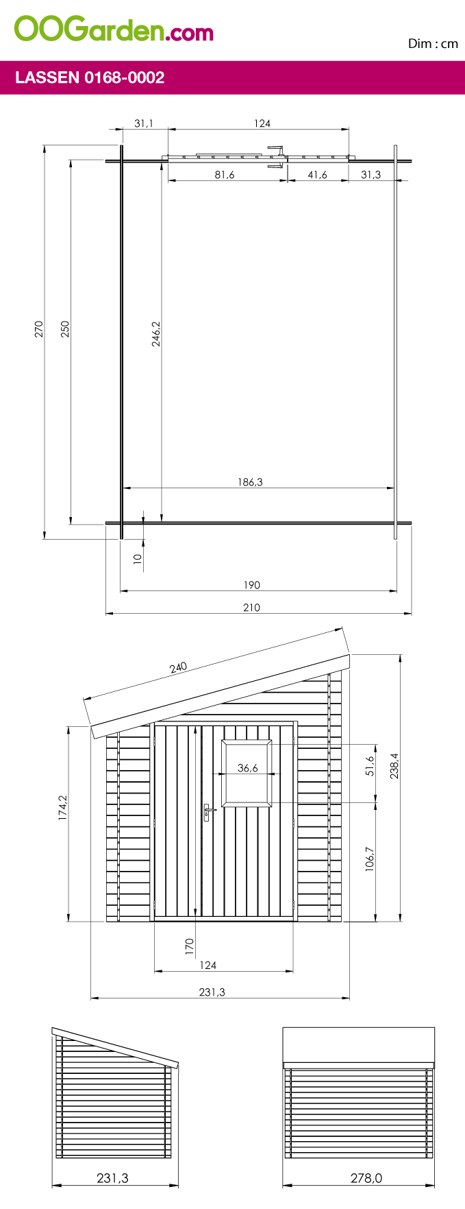 Abri En Bois Adossée 6 M² - Modèle Lassen - Oogarden France ... serapportantà Abri De Jardin Oogarden