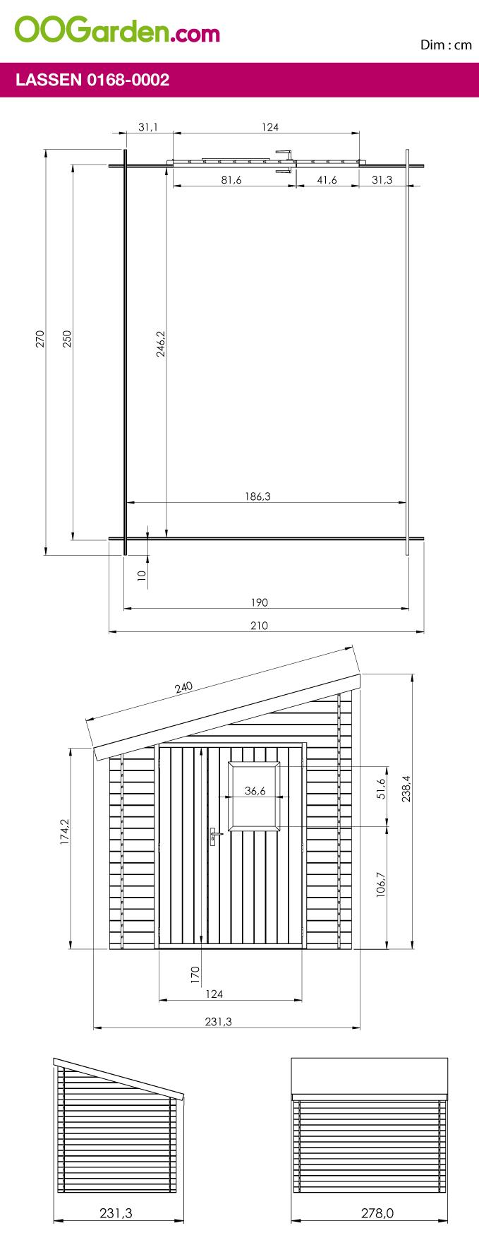 Abri En Bois Adossée 6 M² - Modèle Lassen - Oogarden France ... tout Abri Jardin Oogarden