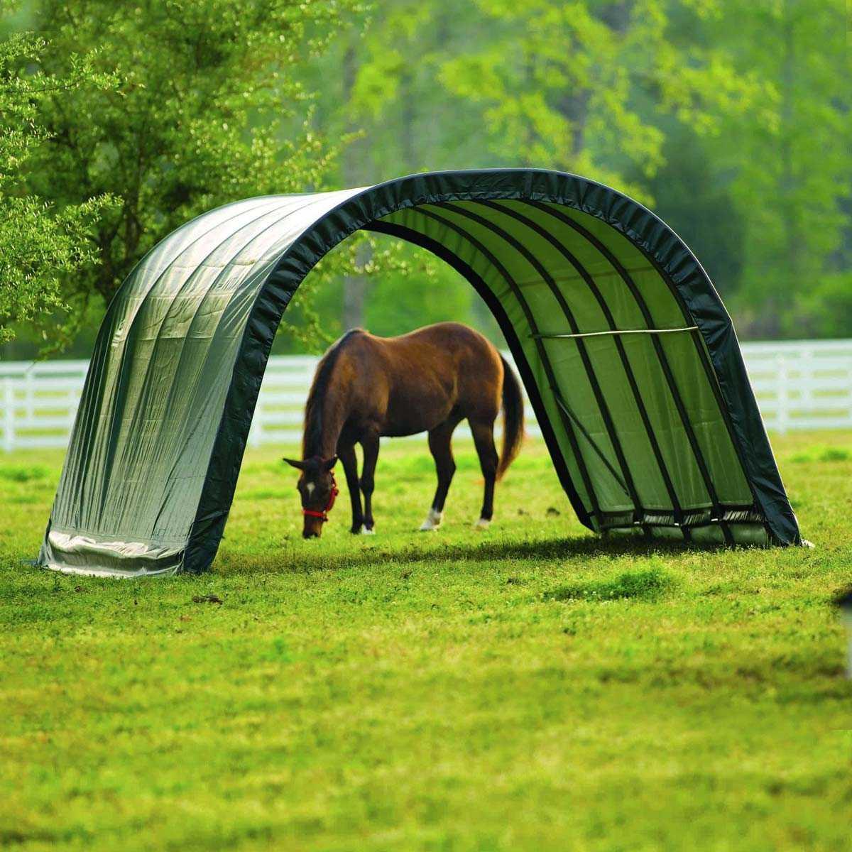 Abri En Toile Pour Chevaux De 22.6M2 Larg. 3.70M X Long. 6.10M encequiconcerne Tente Abris De Jardin