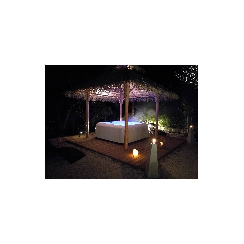 Abri Jacuzzi Exterieur | Enredada pour Abri Jardin Bambou