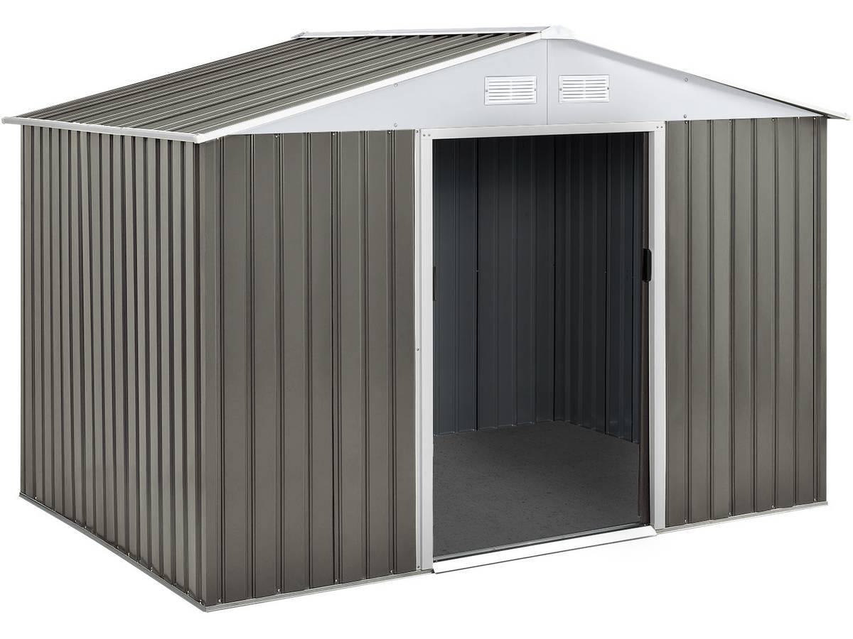 Abri Jardin Metal Dallas- 5,29 M² 74726 78621 destiné Montage Abri De Jardin Metal