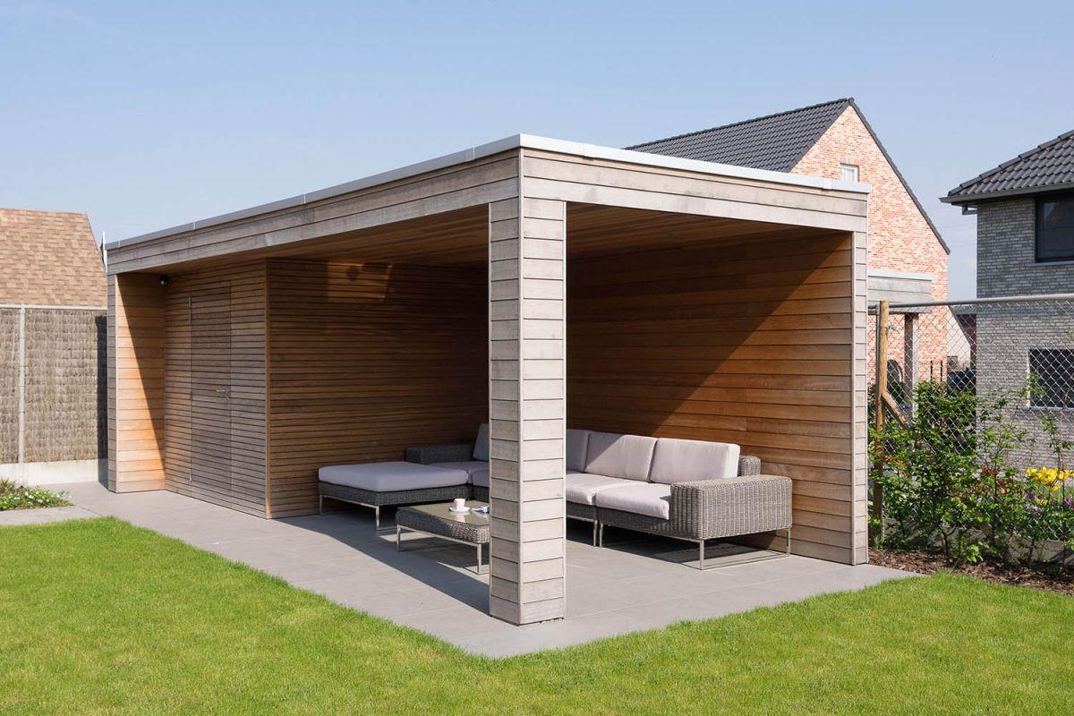Abri Jardin Moderne Conception - Idees Conception Jardin dedans Abri De Jardin Avec Pergola