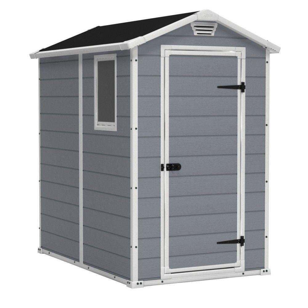 Abri Keter Premium 46Sp Gris 1 Fenêtre Fixe 1.96M2 - Abris ... intérieur Cabane De Jardin Metal