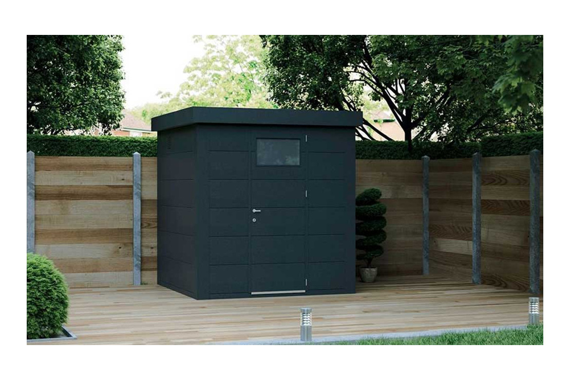 Abri Métal Eléganto 2121 Sd Porte Simple - 4.3M² pour Abri De Jardin Métal Pas Cher