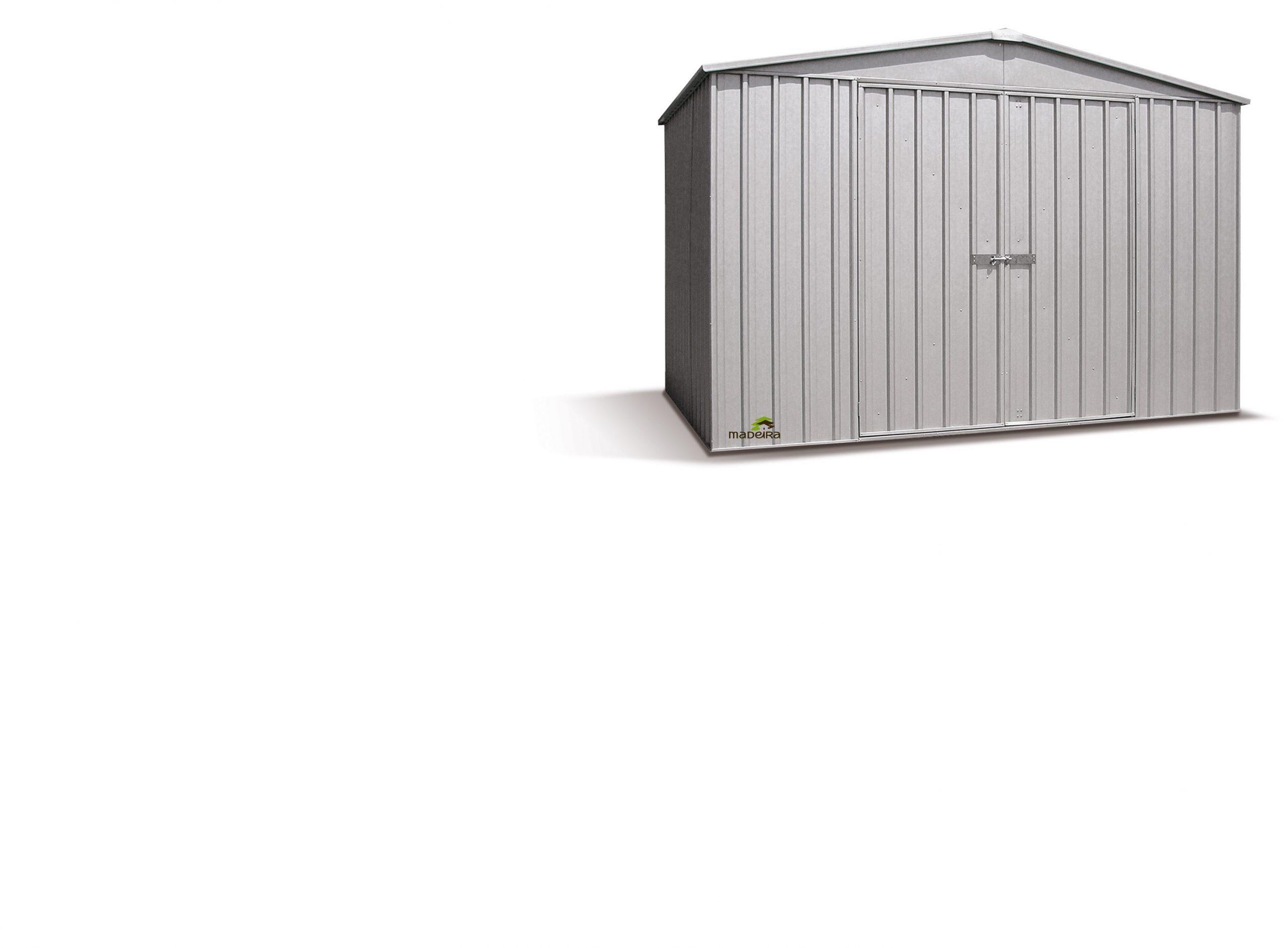 Abri Metal Ref. Barkly Silver Grey, 6.54M², 300 X 218 Cm ... serapportantà Montage Abri De Jardin Metal