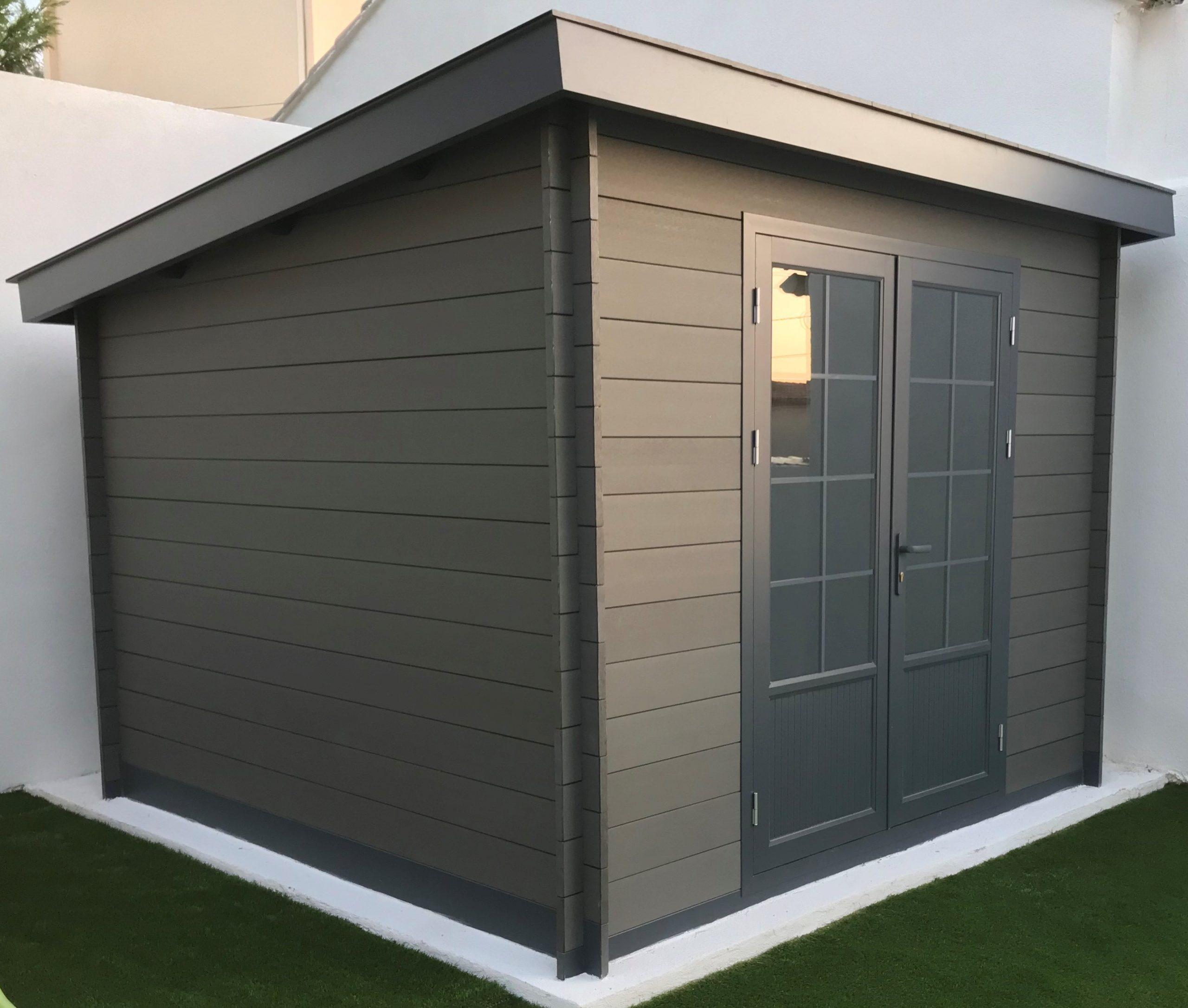 Abri Moderne 3×3 Toit Monopente – Green Outside intérieur Abri De Jardin Monopente