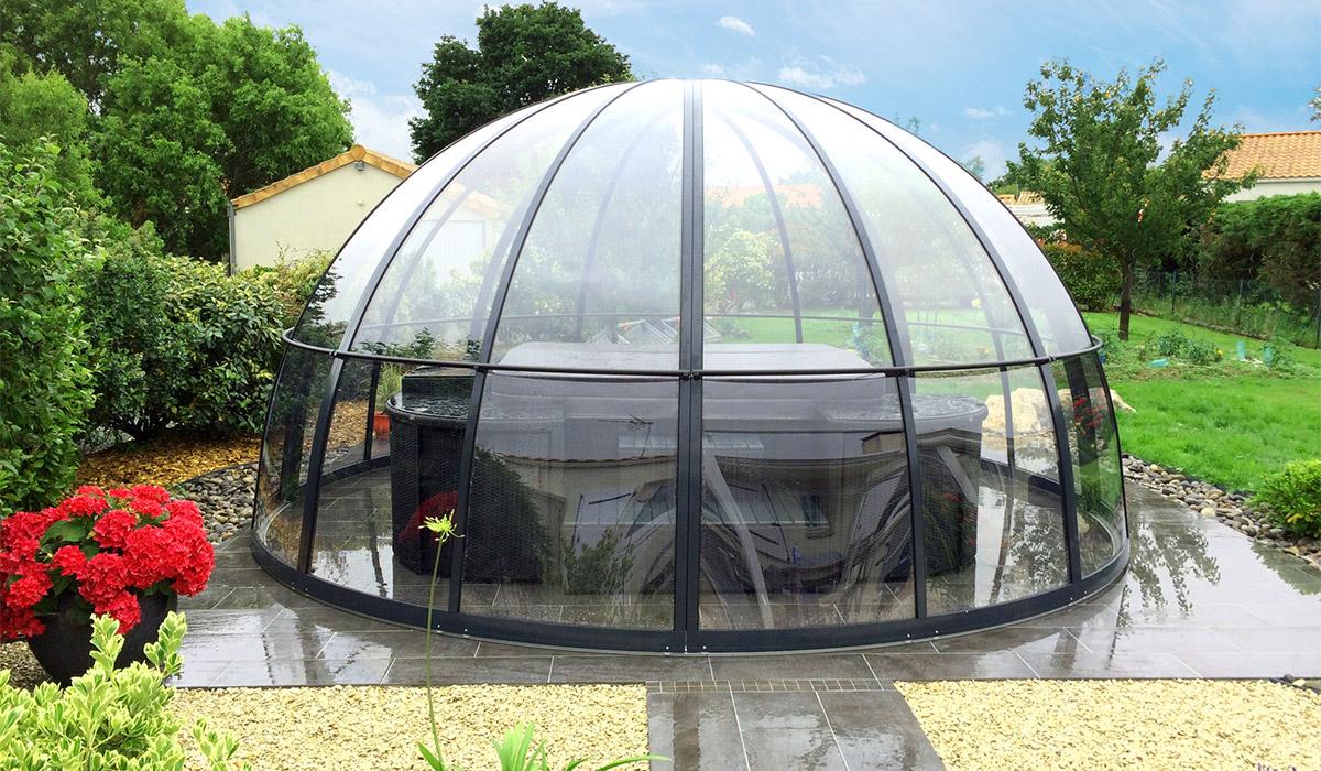 Abri Pour Spa, Dome Spa, Couverture De Spa   Abrinoval dedans Bulle De Jardin Prix