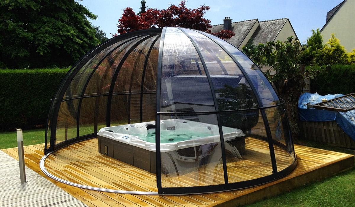 Abri Pour Spa, Dome Spa, Couverture De Spa   Abrinoval destiné Bulle De Jardin Prix