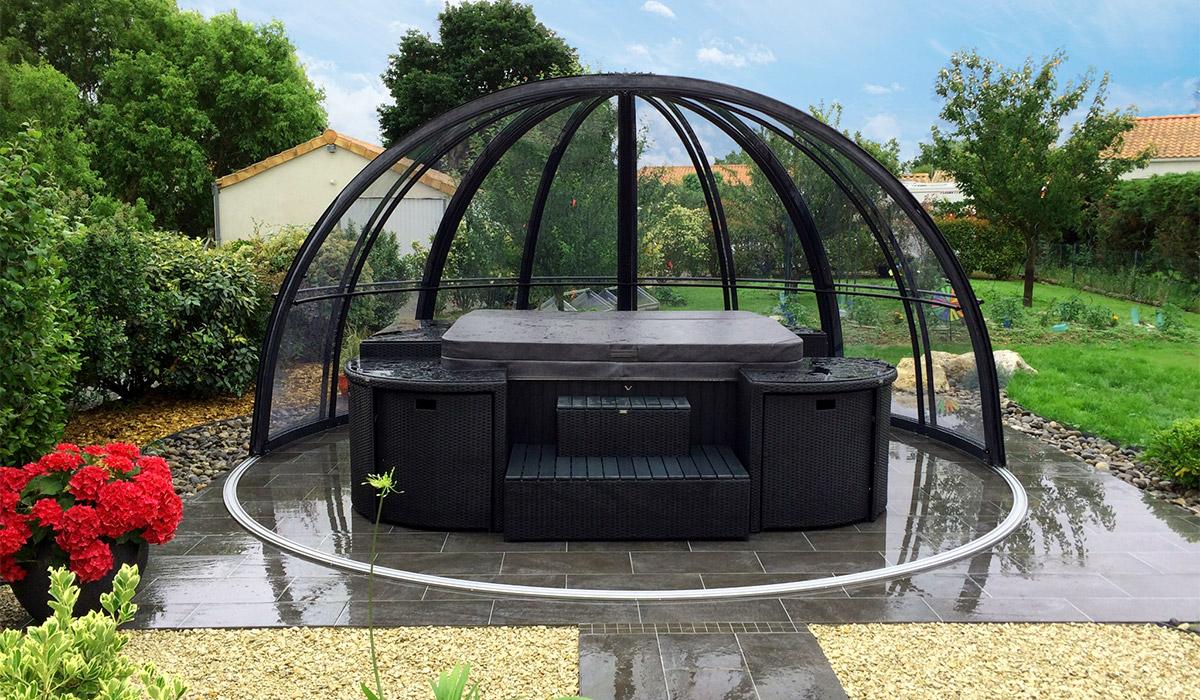 Abri Pour Spa, Dome Spa, Couverture De Spa | Abrinoval tout Couverture Abris De Jardin