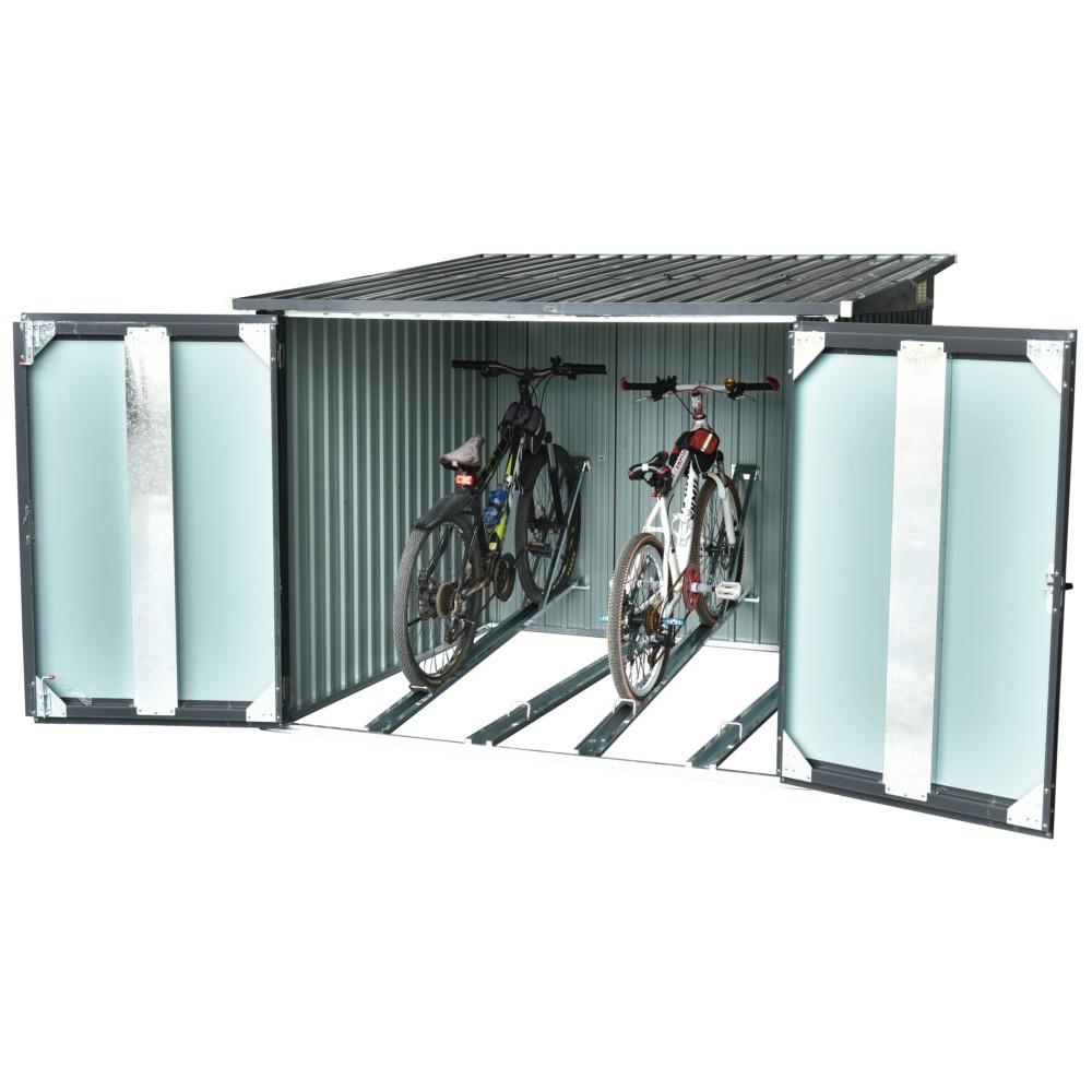 Abri Pour Vélo Mode De Vie En Métal 1,2M2 serapportantà Abri Jardin 2M2