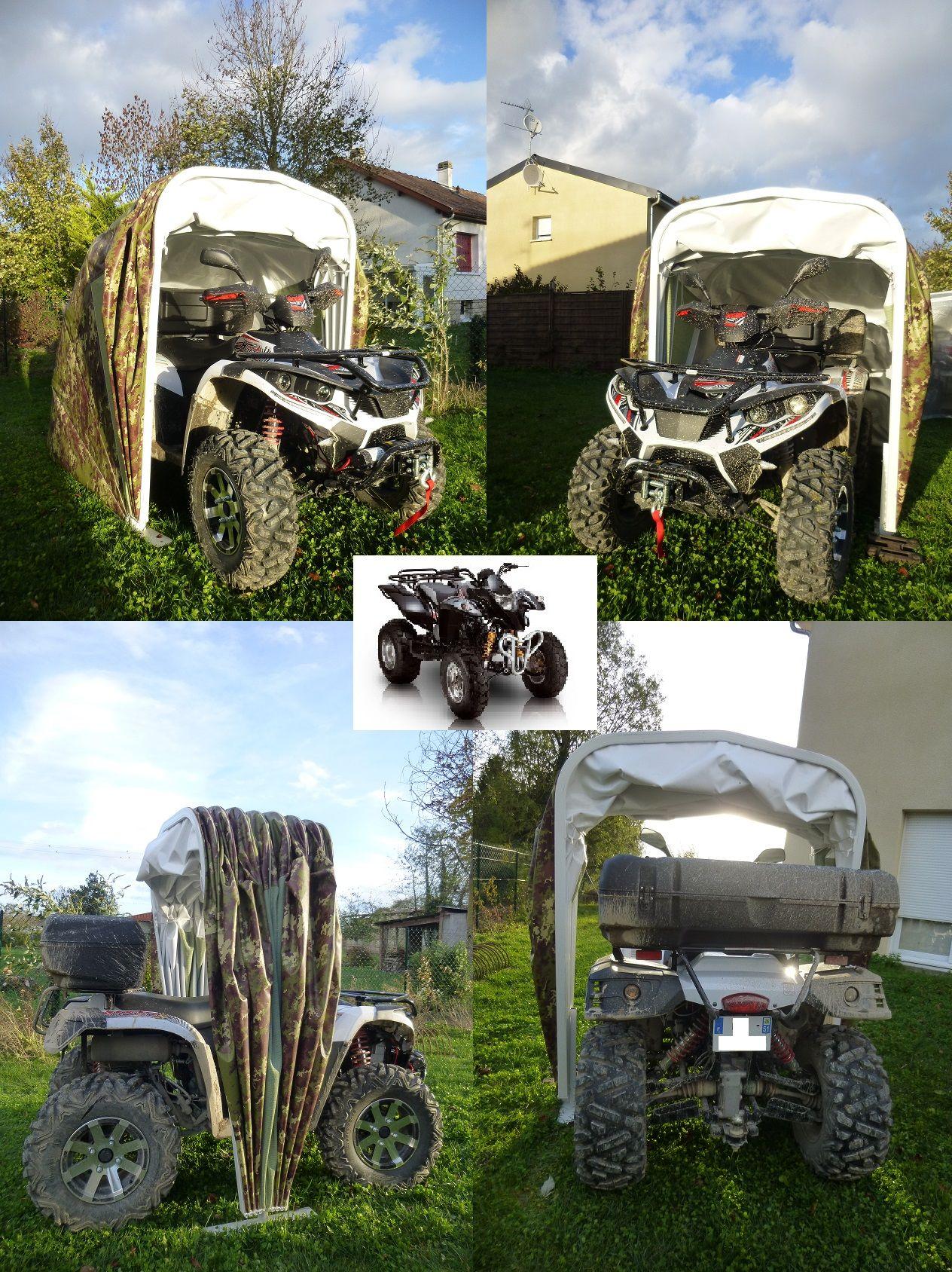 Abri Quad Spyder Tricycle avec Abri Moto Jardin