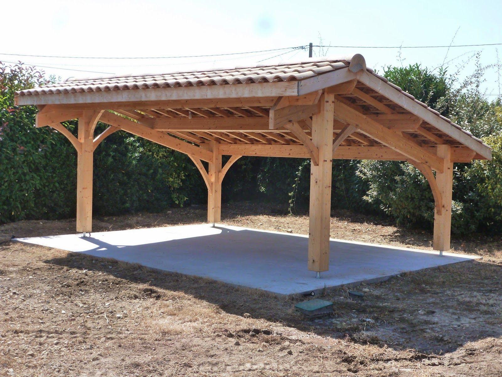 Abris De Jardin Bois / Carport Voitures Bois / Garage Bois ... à Appenti De Jardin