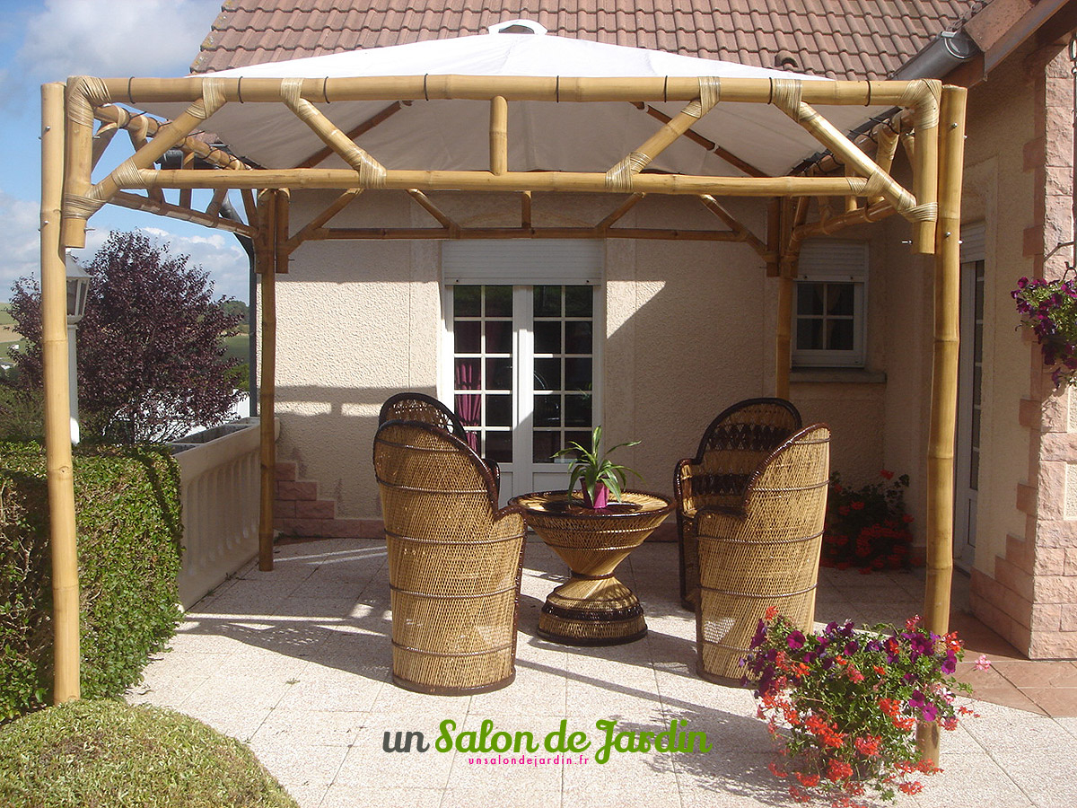 Abris De Jardin: Tonnelle Bambou Meubles Jardin Bambou pour Salon De Jardin En Bambou