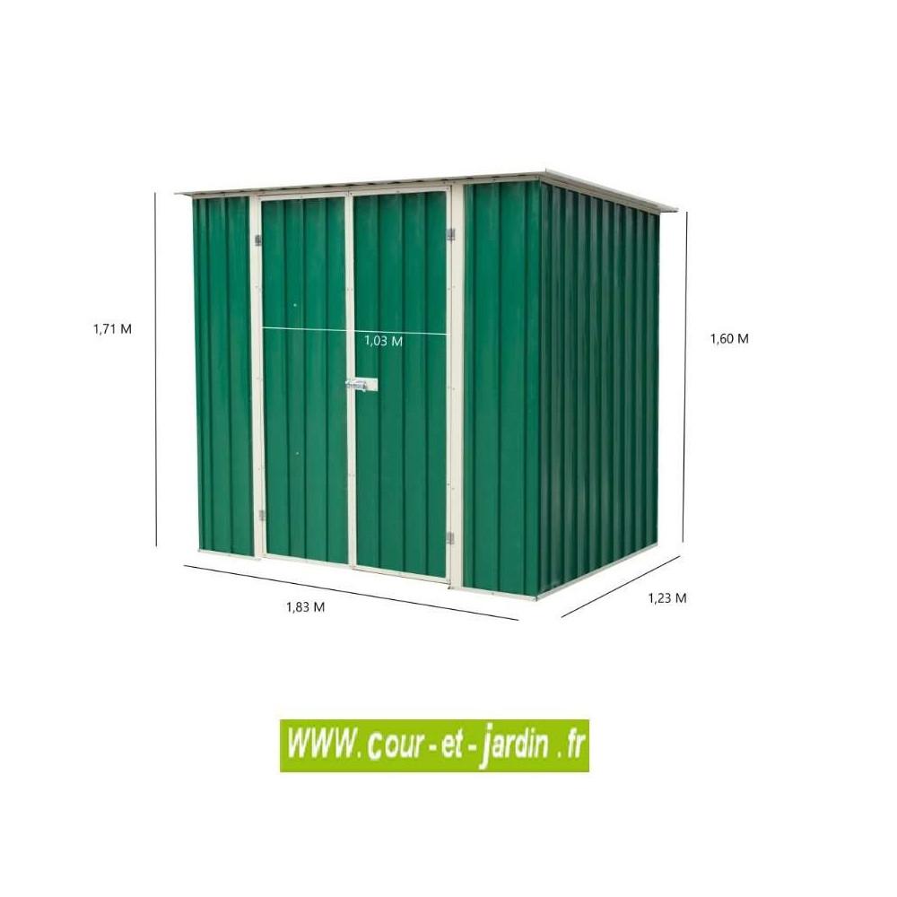 Abris Jardin Métal - Dimensions Au Choix - Cour Et Jardin destiné Abri De Jardin Metal Pas Cher