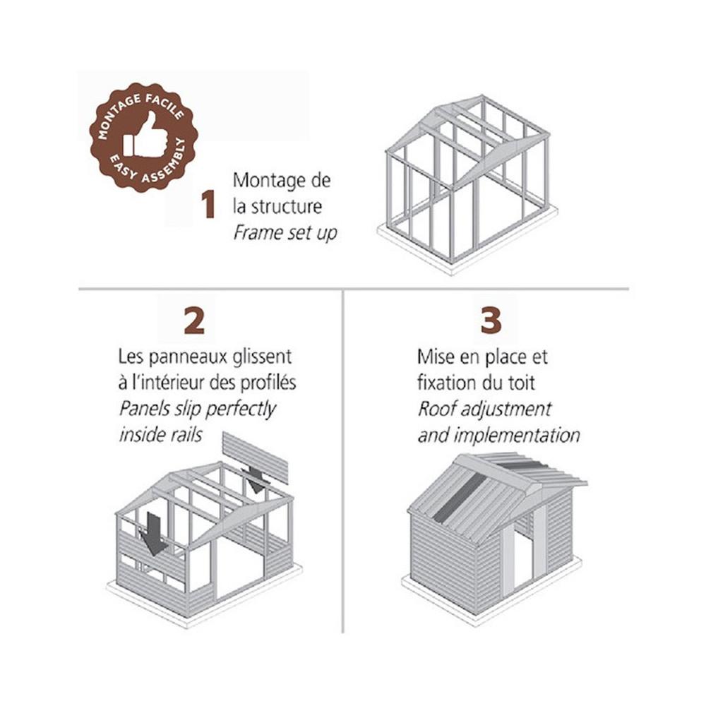 Abris Jardin Métal - Dimensions Au Choix - Cour Et Jardin serapportantà Montage Abri De Jardin Metal