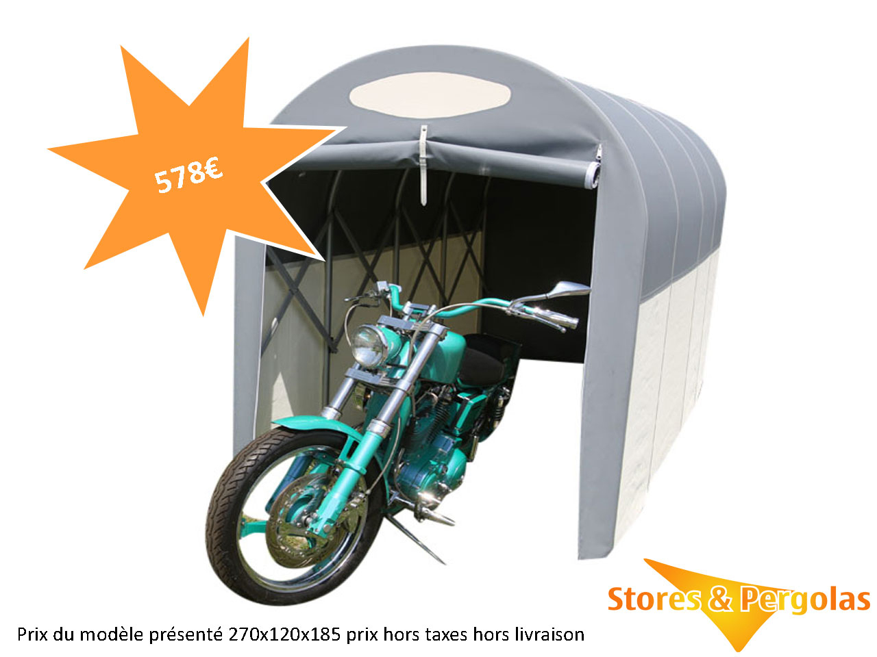 Abris Tunnels | Stores & Pergolas tout Abri Moto Jardin