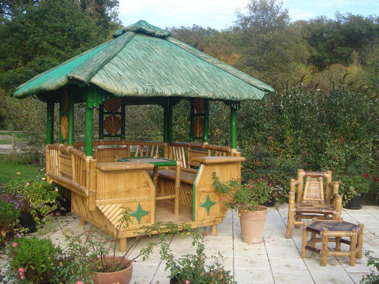 Achat Bambou : Achetez Vos Tonnelles En Bambou Chez Exo-Garden pour Salon De Jardin En Bambou