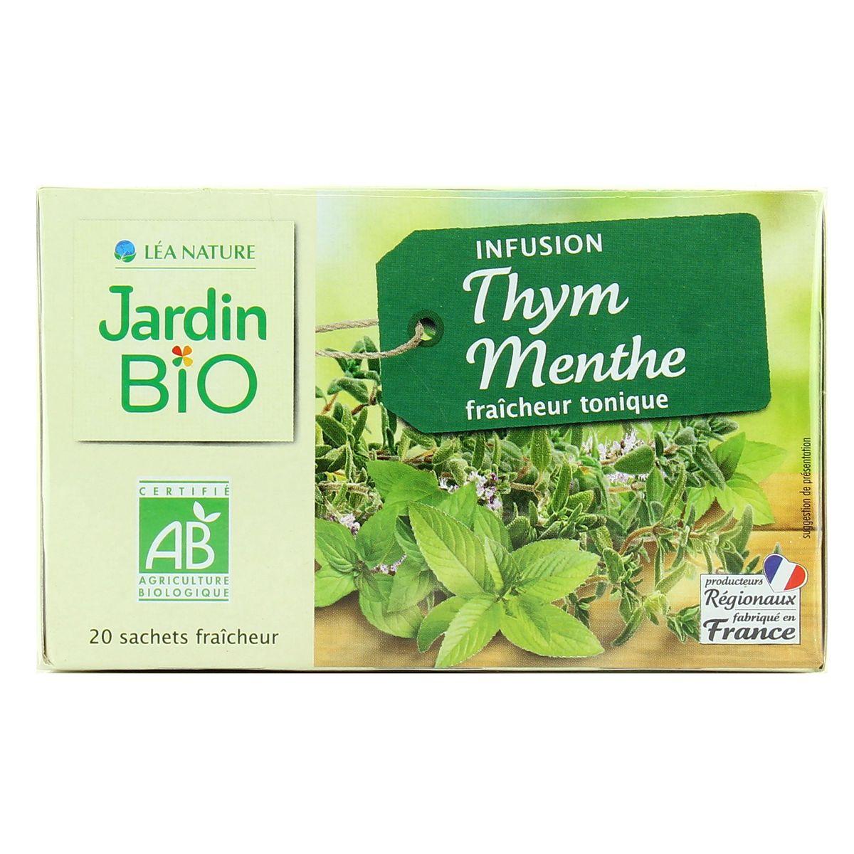 Acheter Jardin Bio Infusion Biologique Thym Menthe Fraicheur Tonique encequiconcerne Jardin Bio Infusion