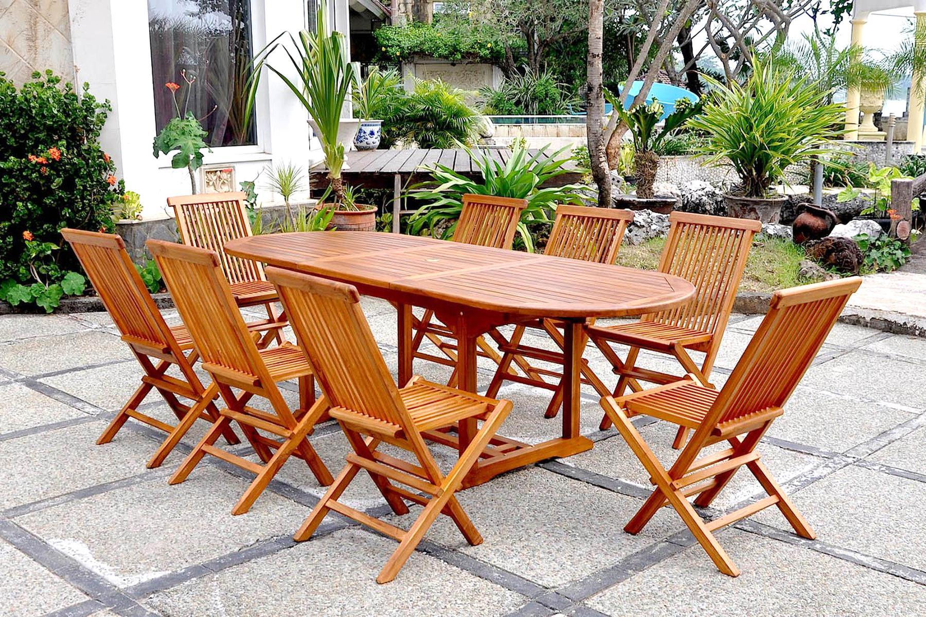 Acheter Mieux Large Sélection Date De Sortie Table Jardin ... à Salon De Jardin En Teck Pas Cher