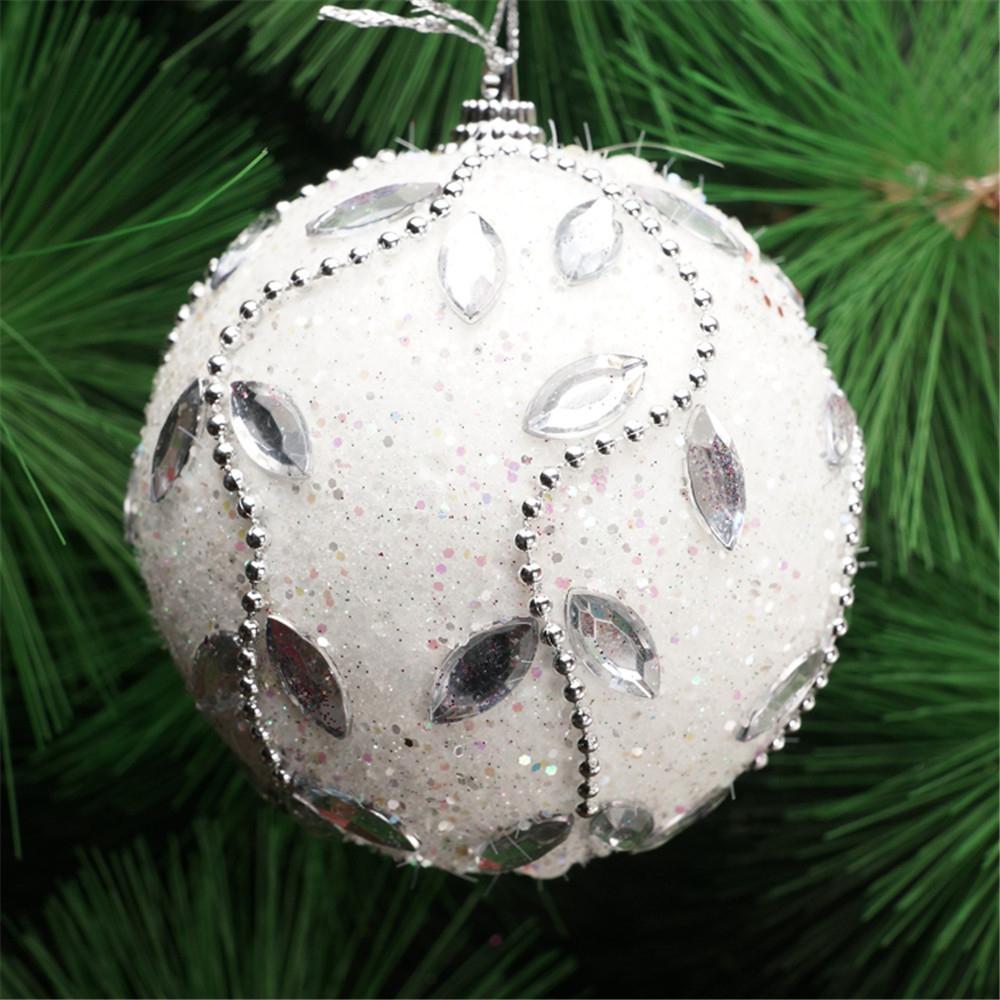 Acheter Noel Strass Glitter Boules Boules De Noël Arbre Ornement Décoration  8Cm Boule Décorative De Noël Accrocher Décoration De $34.87 Du Donaold | ... à Boule Décorative Pour Jardin