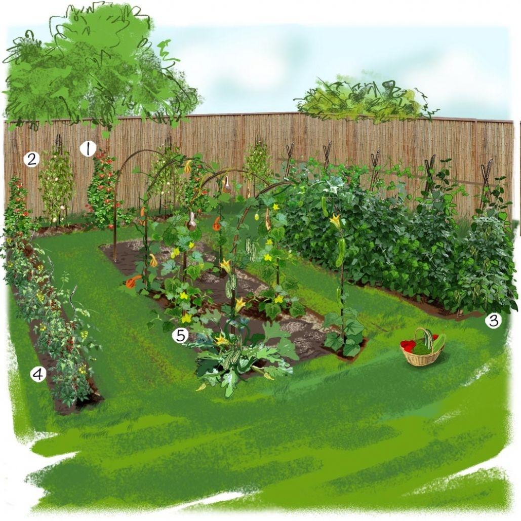 Ahurissant-Beautiful-Idee-Deco-Jardin-Potager-Photos ... concernant Exemple D Aménagement De Jardin