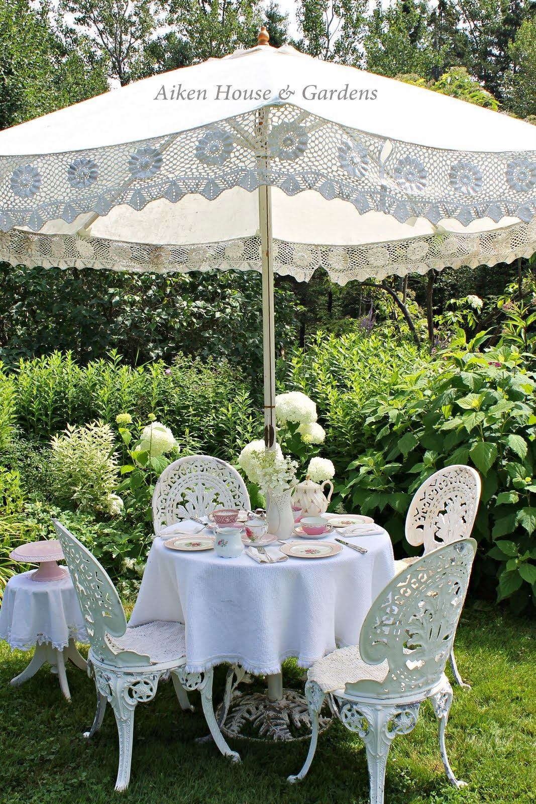 Aiken House & Gardens: Garden Relaxation   Jardins, Jardin ... pour Salon De Jardin Romantique