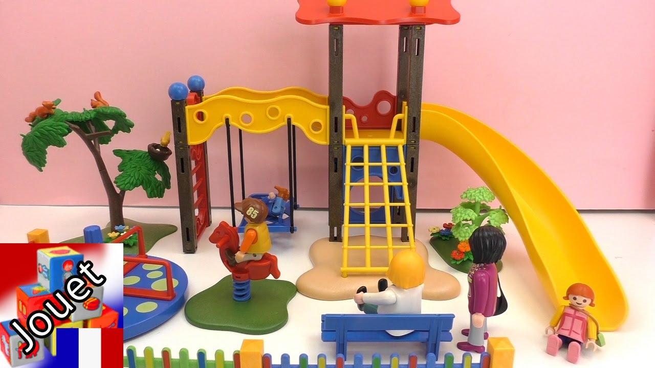 Aire De Jeux Playmobil -Construction Et Review Partie 2-La Grande Aire De  Jeux Playmobil encequiconcerne Grand Jardin D Enfant Playmobil