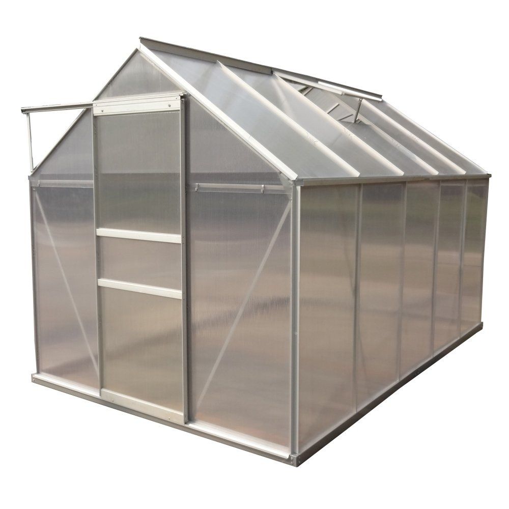 Aleko Outdoor Walk-In Poly-Carbonate Greenhouse With ... serapportantà Serre De Jardin Adossee Solde Promotions