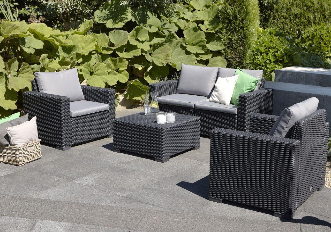 Alibert California Lounge Set (Makro) | Tuinsets, Buiten ... pour Salon De Jardin Allibert California
