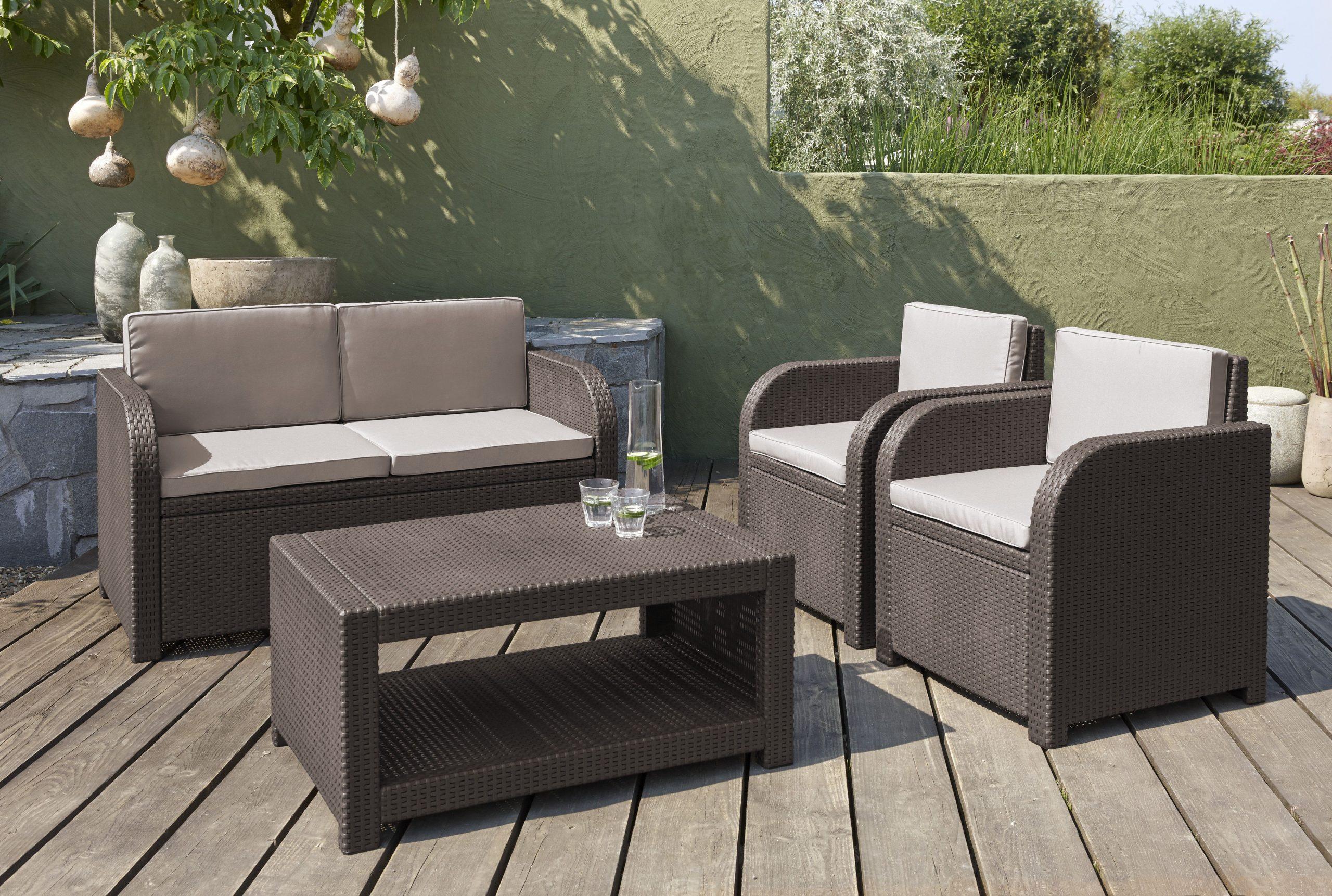 Alibert Modena Ensemble Lounge pour Bordure Jardin Castorama