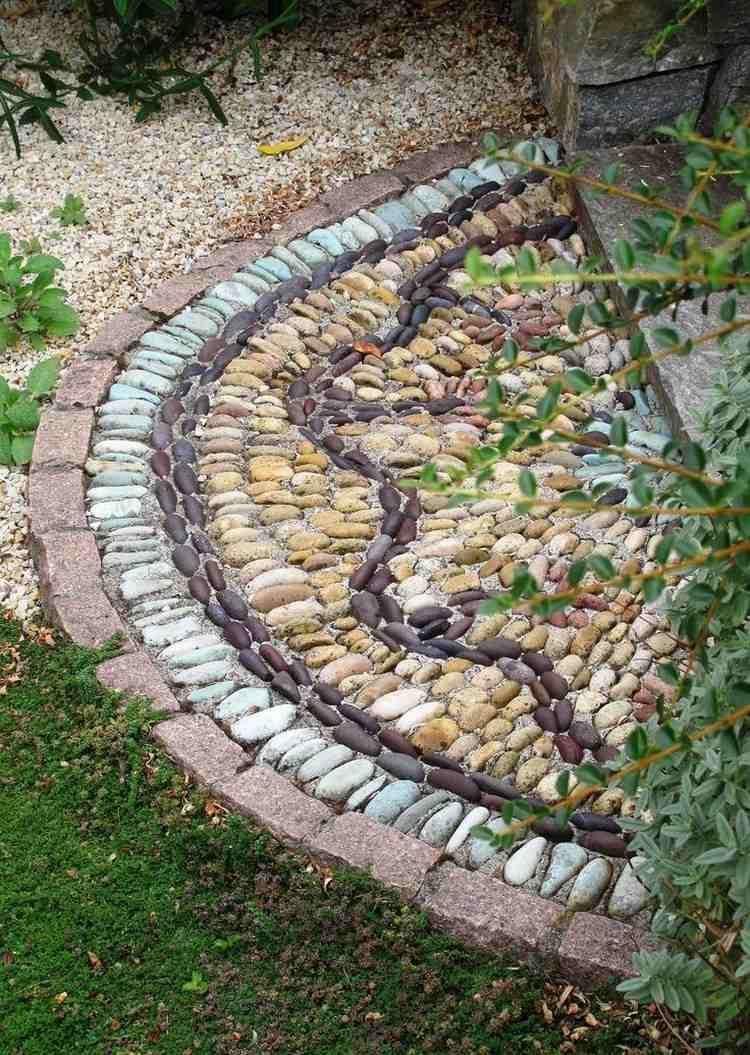 Allées De Jardin Originales En 48 Idées Inspirantes Pour ... intérieur Galet Blanc Jardin
