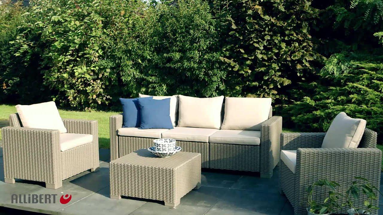 Allibert | California Loungeset pour Salon De Jardin Allibert California